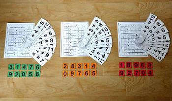 "Hands On Math Activities--""Number Sense Addition Flipstrips"""