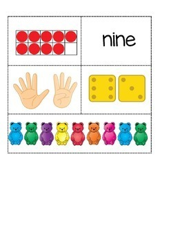 Teddy Bears Number Sense Anchor Charts 0-10 FREE