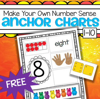 Teddy Bears Number Sense Anchor Charts FREE