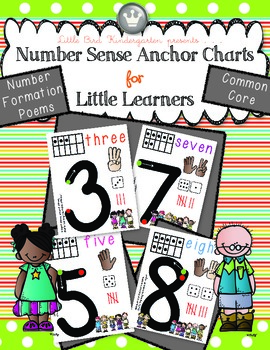 Number Sense Anchor Charts For Little Learners!  (0 - 10)