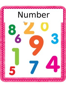 Number Sense Anchors