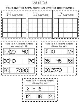 Number Sense Assessment (1st)