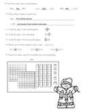Number Sense Assessment - Answer Key