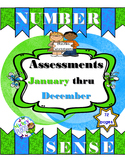 Number Sense Assessments:  January thru December