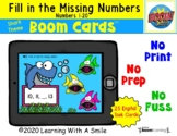 Number Sense BOOM CARDS™ | Find the Missing Number | Shark Theme