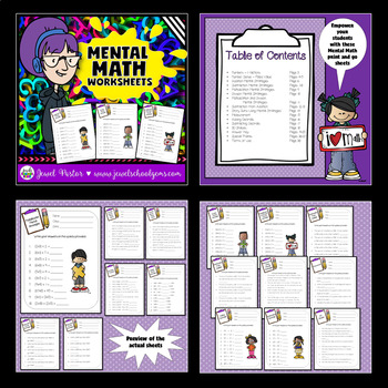 Number Sense Activities BUNDLE (Mental Math, Word Problems and Whole Numbers)