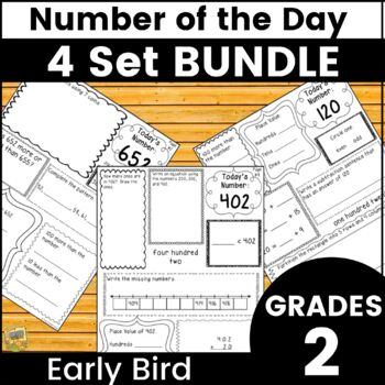 Morning Work - Number Sense BUNDLE - Year Long Instruction!  All 4 Sets Gr. 2