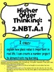 Number Sense Base Ten Higher Order Thinking Activities Second Grade Common Core