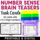 Number Sense Brain Teasers Task Cards