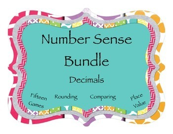 Rounding, Comparing, Place Value: Number Sense 15 Game Meg