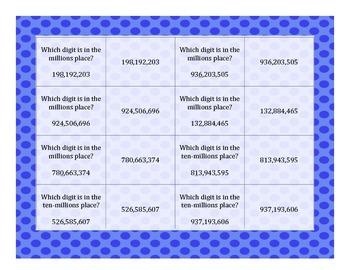Rounding, Comparing, Place Value: 10 Game Mega Bundle - Millions