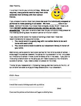 Birthday Treat Letter