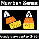 Math Center: Halloween Number Sense Puzzle (Candy Corn)