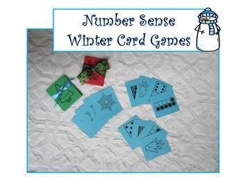 Number Sense Card Game~Winter