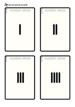 Number Sense Cards 1-10: 6 different representations for each number
