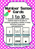 Number Sense Cards 1-10: 6 different representations for e