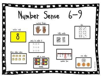 Number Sense Cards 6-9 FREEBIE