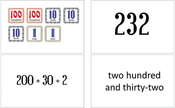 Number Sense Cards - Match 4 Ways