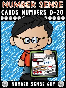 Number Sense Cards *Numbers 1-20