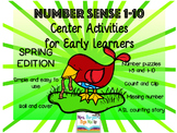 Number Sense Center Activities 1-10 SPRING EDITION