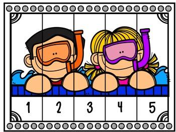 Number Sense Center Activities 1-10 SUMMER EDITION
