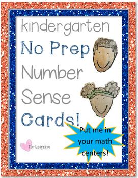 Number Sense Center Cards