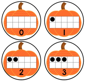 Number Sense Center Cards: Ten Frames and Subitizing Dots