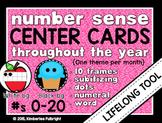 Number Sense Center Cards: Ten Frames and Subitizing Dots