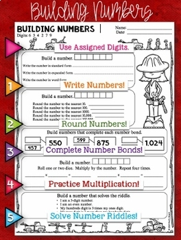 Number Sense Math Centers for the ENTIRE YEAR