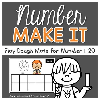 Number Sense Centres: Number Make It! {Play Dough Mats}