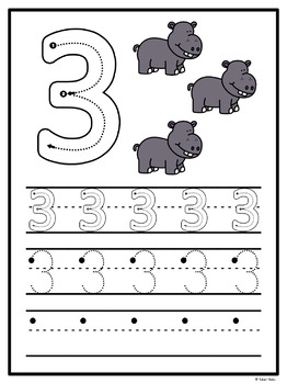 Number Centres: Number Print It!