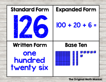 Number Forms Poster & Practice Mat