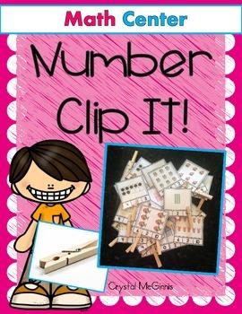 Number Sense Clip It Math Center (Tallies, Ten Frames, & Pictures to 10)