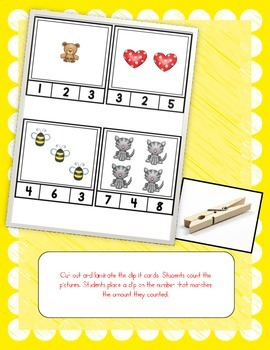 Number Sense Clip It Math Center (Tallies, Ten Frames, & Pictures to 10)