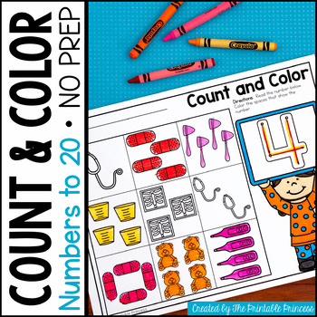 Number Sense: Count and Color {Counting Objects}
