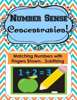 Number Sense Concentration... Subitizing... 2 different Versions