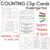 Count and Clip Sports Theme  3 Sets