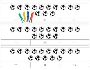 Count and Clip Cards Sports Theme  3 Sets