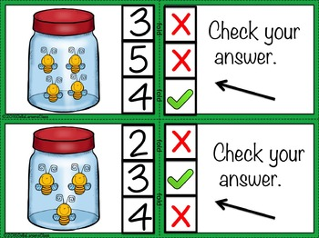 Number Sense - Counting 1-10 Self Checking Task Cards