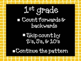 Counting Forwards, Backwards, Skip Counting by 2's, 5's, & 10's to 120