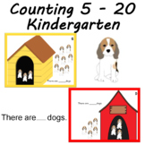 Math Center Mats Number Sense Counting Dogs laminate write and wipe cards