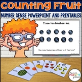 Number Sense Counting PowerPoint and Printables