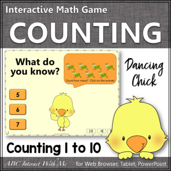 Number Sense Counting to 10 {Dancing Chick}