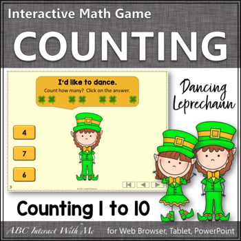 Number Sense Counting to 10 {Dancing Leprechaun}