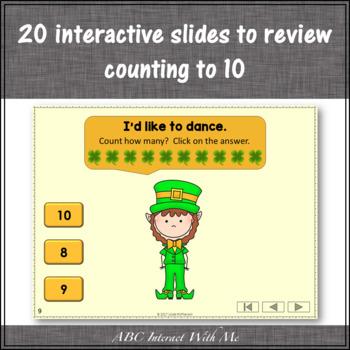 Number Sense Counting to 10 {Dancing Leprechaun}