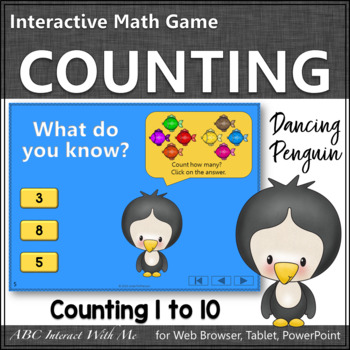 Number Sense Counting to 10 {Dancing Penguin}