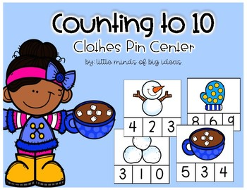 Number Sense: Counting to 10 Winter Edition