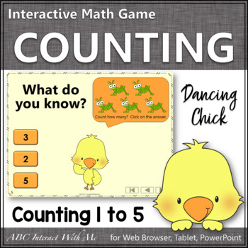 Number Sense Counting to 5 {Dancing Chick}