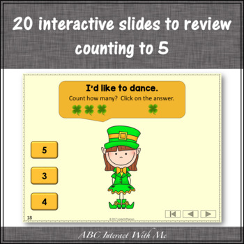 Number Sense Counting to 5 {Dancing Leprechaun}