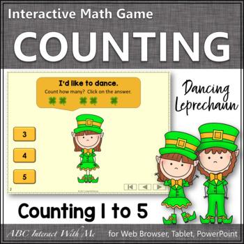 Number Sense Counting to 5 {Dancing Leprechaun}